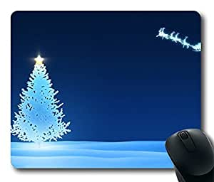 Design Mouse Pad Desktop Laptop Mousepads Christmas Bluetree And Snowmobiles Comfortable Office Mouse Pad Mat Cute Gaming Mouse Pad by runtopwell