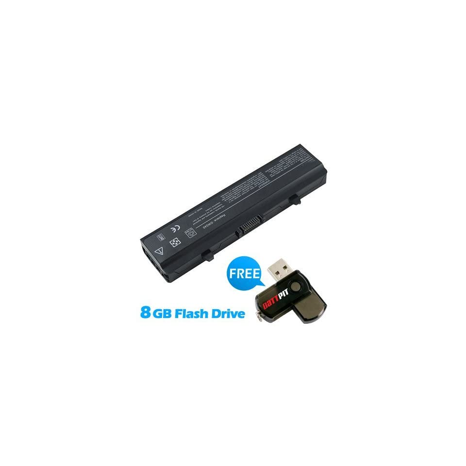 Battpit™ Laptop / Notebook Battery Replacement for Dell 312 0626 (4400mAh / 48Wh ) with FREE 8GB Battpit™ USB Flash Drive