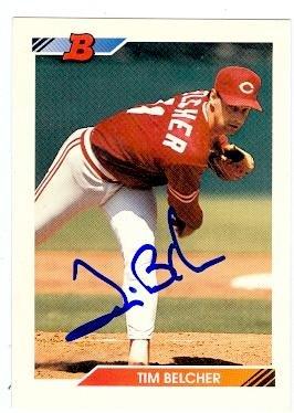 Tim Belcher autographed baseball card (Cincinnati Reds) 1...