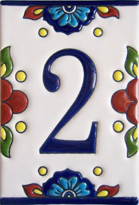 mexican house number tiles - 6