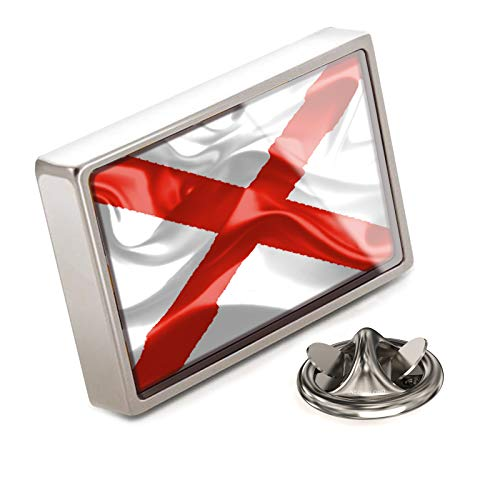 NEONBLOND Lapel Pin Alabama 3D Flag Region: America (USA)