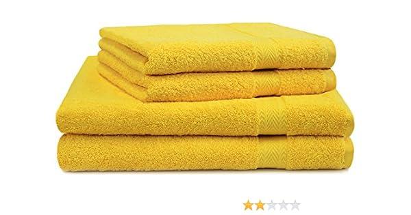 4-tlg toalla set 50x100cm en diferentes colores