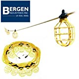 Bergen GL100-142MPC 100 ft Contractor Grade Temporary Light Stringer 10 Lights 14 Gauge 14/2 SJTW