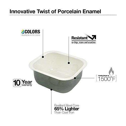 Houzer PCB-1750 WH Porcela Series Porcelain Enamel Steel Undermount Bar/Prep Sink, White by HOUZER (Image #2)