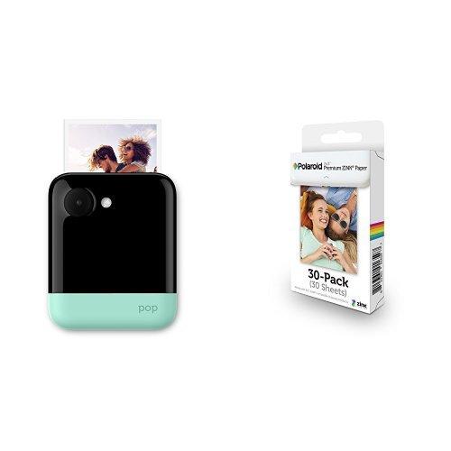 Polaroid POP 3x4 Instant Print Digital Camera (Green) with Premium Zink Photo Paper