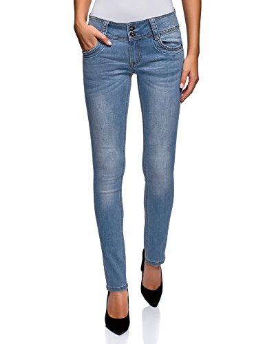 A Oodji Skinny Jeans Donna 7500w Media Vita Blu Ultra xqafBwqFA