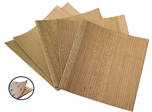(Unfinished PSA Cherry Veneer Pack | Wood Sheets Perfect for Laser Cutter, Wood Burning, and Paint Crafts )