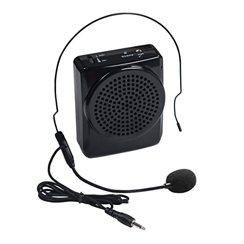 DuaFire Voice Amplifier Portable Microphone with Waistband for Classroom Teachers, Speakers, Yoga Instructors, Gym Directors, Coaches, Presentations, Seniors and Tour Guides (Black) (Speaker Portable Microphone)
