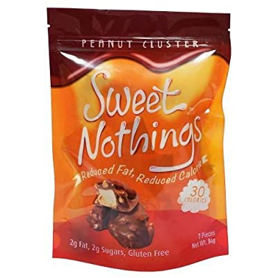 ChocoRite - High Protein Diet Bar | Sweet Nothings Peanut Cluster Clusters | Low Calorie, Low Fat, Sugar Free, (7/Bag)