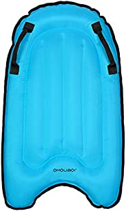 KIICN Inflatable Boogie Boards for Beach, Portable Bodyboard with Handles for Kids Mini Pool Float Surfboard L