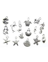 AVBeads 150 Piece Under the Sea Ocean Water Life Silver Zinc ...
