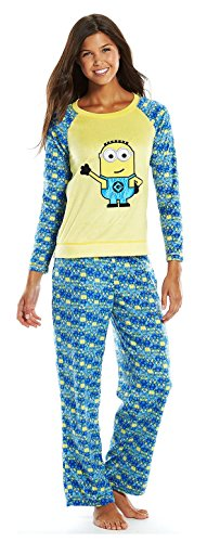 Despicable Me Minions Womens 2 Piece Pajama/Lounge Set,