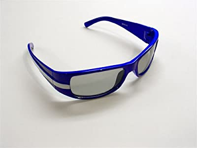 VWP 0793573851130 The Child Racing Strip Blue Stylish Universal 3D Passive Glasses work with passive 3D Televisions and 94% of all Movie Theaters in the United States, Blue