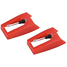 banpa Pack of 2 Turntable Replacement needle with Ceramic Tip for ION iCT09RS Quick Play LP, Power Play LP, Quick Play Flash, Contour LP, Vertical Vinyl, Archive LP, Forever LP