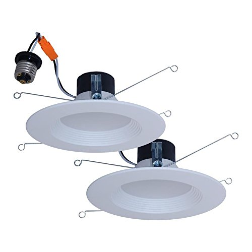 (Utilitech 2-Pack 65-Watt Equivalent White Dimmable LED Recessed Retrofit Downlights (Fits Housing Diameter: 5-in or 6-in) )