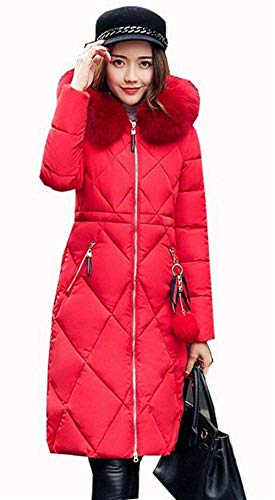 Rot Style Piumini Vento Giacca Colore Outerwear E Accogliente Invernali Trench Slim Piumino Ragazze Moda Sezioni Sciolto Festa Parka Addensare Puro Cappuccio Con Invernale Lunghe Fit Donna Hot qBYF8q