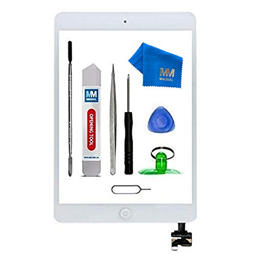 (MMOBIEL Digitizer for iPad Mini 1/2 (White) 7.9 Inch Touch Screen Front Display Assembly Incl Incl Homebutton IC Chip Camera Holder Pre Installed Adhesives and Tool kit)