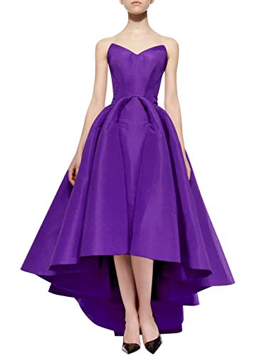 Prom Bess Low up Sweetheart Women's Bridal High Evening Formal Dresses Lace Purple 8Rq8Fw
