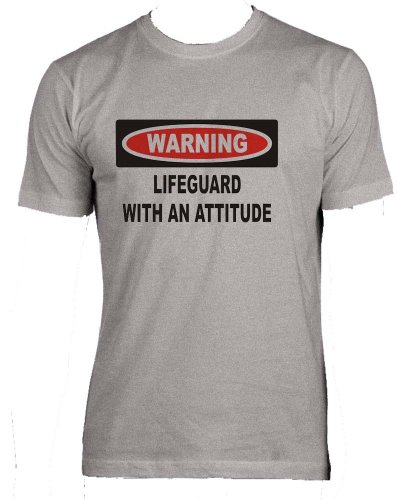 (Warning: Lifeguard with an attitude Adult Male (Men's Fit) Super Soft T-Shirt...)
