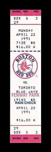 (1991 Boston Red Sox v Toronto Blue Jays Full Ticket 4/22/91 Wade Boggs HR 24881)