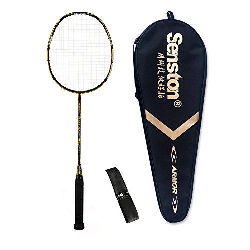 Senston S-300 Graphite Badminton Racket Full Carbon Badminton Racquet(White/Red/Black/Blue) With Racket Cover .