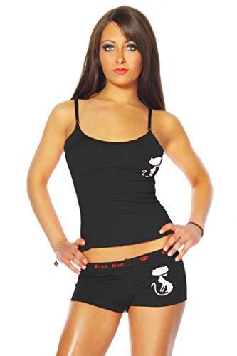 Cami-Set Top und Panty schwarz Gr. 34-36