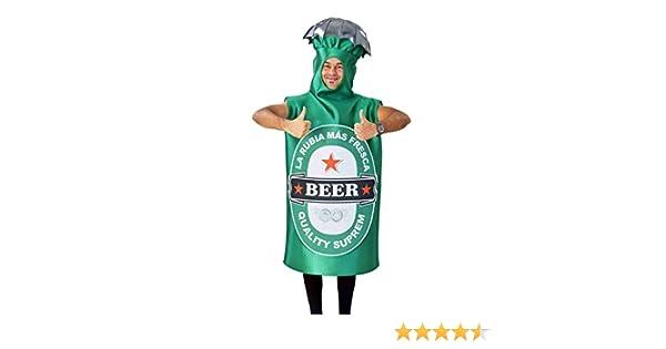 Disfraz Adulto de Botella de Cerveza Verde - Disfraz Original para ...