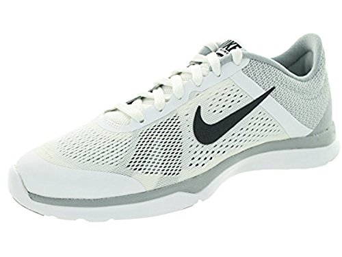 Zapatillas para correr Nike Womens In Season TR 4 Cross Trainer (11 B (M) US, blanco / gris oscuro / Wlf Gry / Cl Gry)
