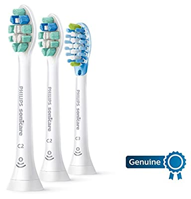Genuine Philips Sonicare replacement toothbrush head variety pack, 2 Optimal Plaque Control + 1 Premium Plaque Control, HX9023/69, BrushSync technology, White 3-pk