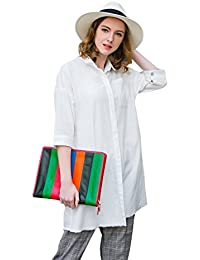 Clearance Women Casual White Oversized Blouse