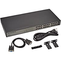 Monoprice 22GE+2 Combo-Port Gigabit Ethernet SNMP Switch (110745)