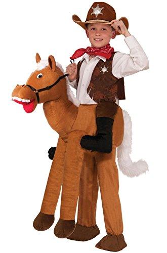 Mememall Fashion Western Cowboy Ride-A-Horse Child Costume (Child Rideahorse Costume)