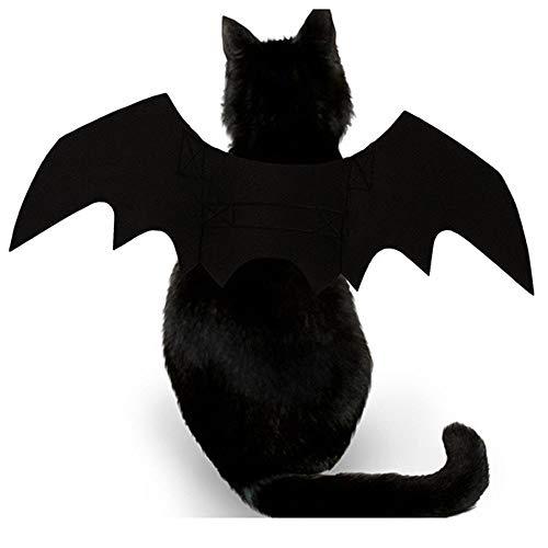 DEESEE(TM) Animal Pet Dog Cat Bat Vampire Halloween Fancy Dress Costume Outfit Wings ()
