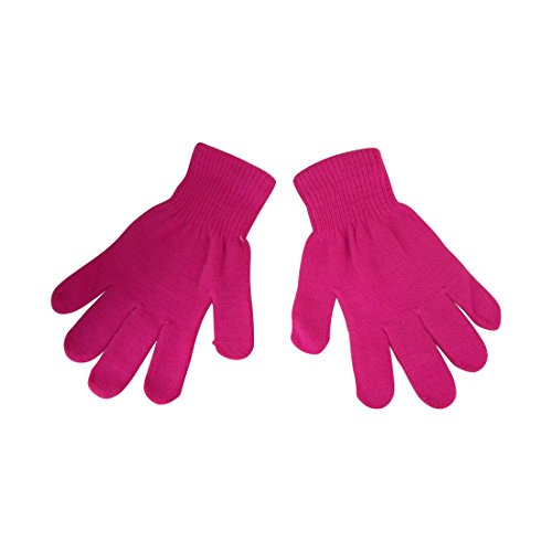 - Ladies Gloves Magic Knit Gloves for Women Solid Colors - Hot Pink