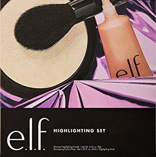 E.l.f. Highlighting 3 piece Gift Set including Shimmer Highlighting Powder, Highlighting Brush and Shimmering Facial Whip ()