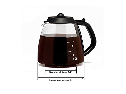 CAFÉ BREW COLLECTION Universal 12 Cup Replacement Carafe for Cuisinart, Mr. Coffee, Bunn, etc by CAFÉ BREW COLLECTION (Image #2)