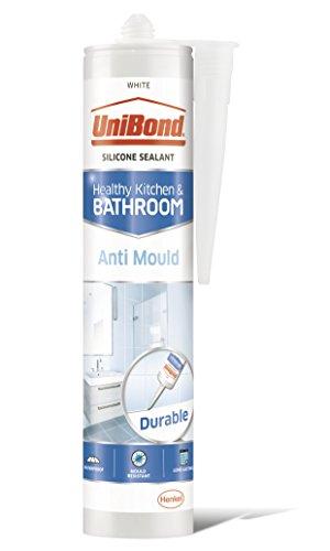 UniBond 2079356 Anti-Mould Sealant / White Silicone Sealant for Kitchen and...