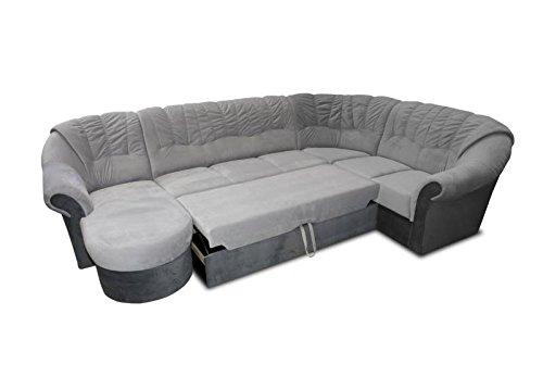 Polstermöbel-Set Calimero 1 mit Staukasten und Bettfunktion inkl. Hocker - Staukasten: Rechts