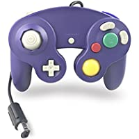 Crifeir The Wired Controller for Gamecube NGC Wii Video Game (Blue Purple)