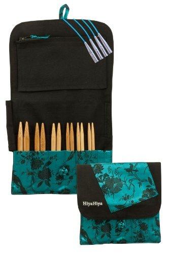 HiyaHiya Interchangeable 5-inch (13cm) Bamboo Knitting Needle Set; Large Tip Sizes (US 9-15) HIBINKIT5LG by HiyaHiya (Image #1)