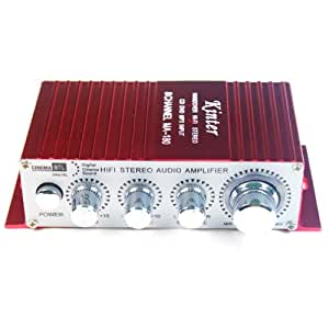 Kinter MA-180 12V MINI Power Car Computer Amplifier USB Port Charging (Red)