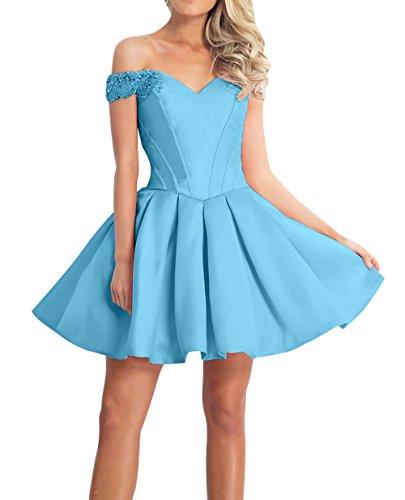 Promkleider Mini Kurzes La mia Brau Ballkleider Blau Cocktailkleider Linie Festlichkleider A Rock Partykleider Abendkleider xxwaqPT
