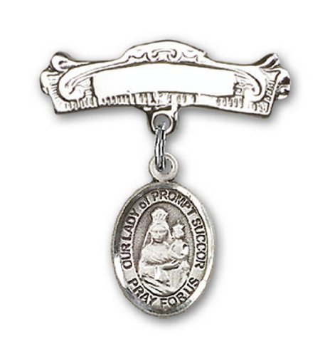 Icecarats Créatrice De Bijoux En Argent Sterling O / L De Charme Prompt Secours Broches Badge Arc 7/8 X 7/8