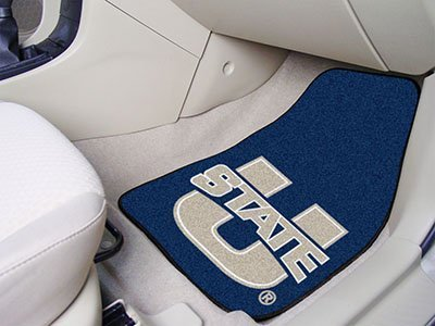 """'FanMats Home Indoor Sports Team Logo Utah State 2-piece carpeted denn Mats 18 """"X27 by FanMats"""