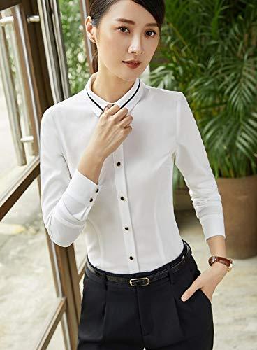 A Ysfu Maniche Camicetta Abbigliamento Lavoro Bluse Lunghe Donna Camicie Slim Abbottonatura Da 0Yqr0x