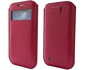 BONAMART ® PU Leather Protective Case S-View Cover for Samsung Galaxy S IV 4 with Pull-Tab