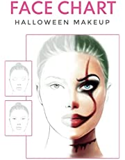 FACE CHART halloween makeup: Professional Makeup Artist Practice Workbook