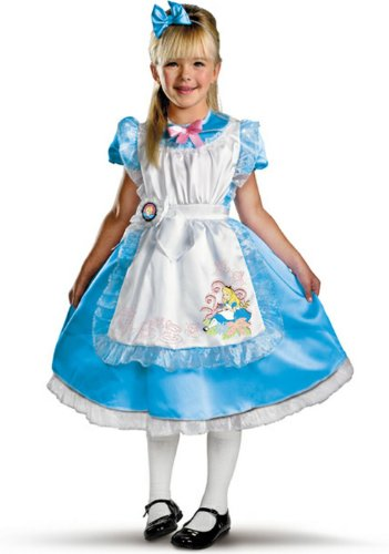 Female Disney Characters Costumes (Alice Deluxe Child Costume, Child)