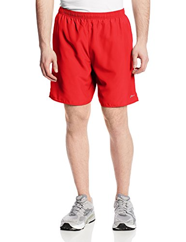 Asics Men's 7-Inch Core Pocketed Shorts, Red Heat, (Asics Core Running Short)