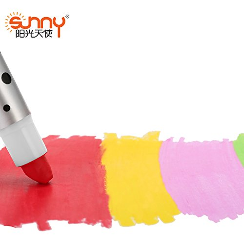 Crayon Sharpener Costume (Embiofuels(TM) Sunny 16 colors Silky crayon chalks kids crayons art pen pastel Drawing painting for children)